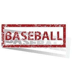Baseball outlined stamp vector