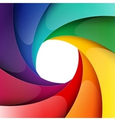 Swirly rainbow shiny paper layers background vector