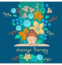 Massage therapy element design set logos vector