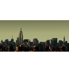 Manhattan panorama vector