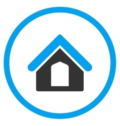 Home Circled Icon vector image