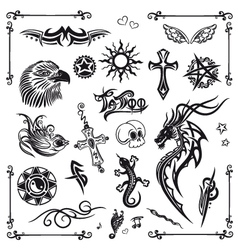 Tribal and Tattoo vector image