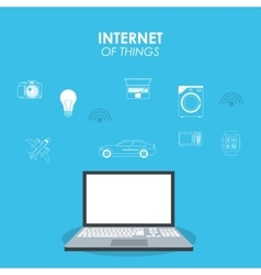 Laptop icon internet of things design vector