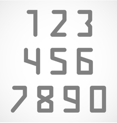 Abstract digital geometric numbers set vector