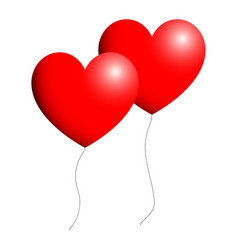 Ballon heart for valentine days red color vector