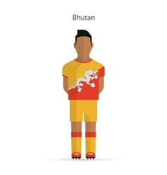Bhutan football player soccer uniform vector