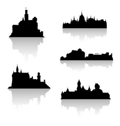 castle silhouettes vector image