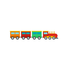 Compartment train icon flat style vector