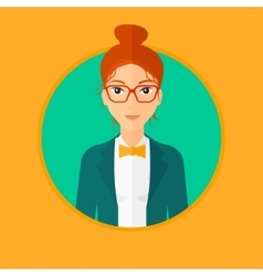Confident young business woman vector