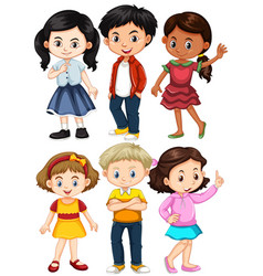 Different characters of boys and girls vector