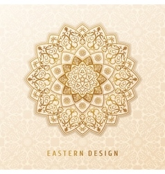 Ethnic pattern mandala design for vector image vector image