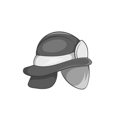 Helmet of firefighter icon black monochrome style vector