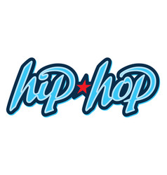 hip hop lettering in graffiti style vector image