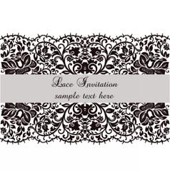 Lace invitation card with delicate ornament vector