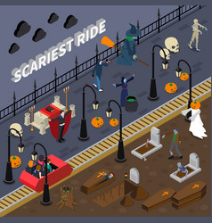 monster halloween colored composition vector image vector image