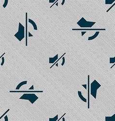 Mute speaker sign icon Sound symbol Seamless vector image vector image