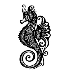 Ornate sea horse vector
