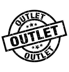 Outlet round grunge black stamp vector