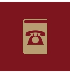 Phonebook icon design telephone book vector