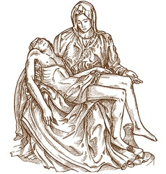 Pieta statue of michelangelo vector