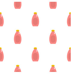 Pink cream bottle pattern seamless vector