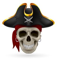 Pirate skull vector
