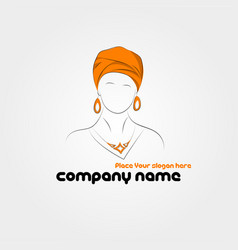 Silhouette of arabic woman in a turban vector