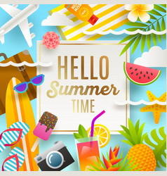 Summer holidays and vacation design vector