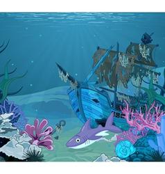 Underwater landscape vector image vector image