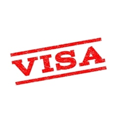 Visa watermark stamp vector