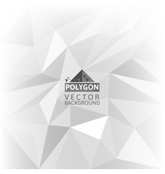 white polygonal abstract background vector image vector image