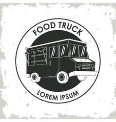 Truck fast food icon graphic vector