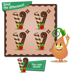 spot the difference letters v vector image