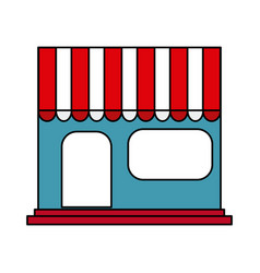 Store frontview icon image vector