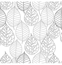Graphic autumn leaves seamless vector