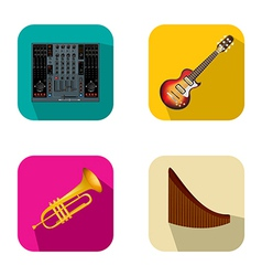 Music and party icons 4 vector