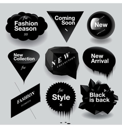 Fashion sale speech bubbles set vector image