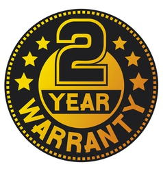 2 year warranty vector image vector image