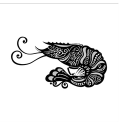 Ornate sea shrimp vector