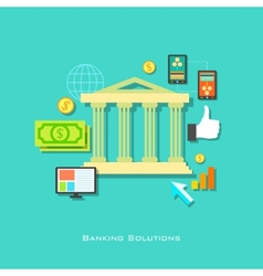 Banking solution concept vector