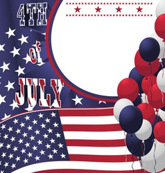 4th of july poster card vector image vector image