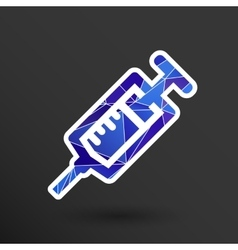 Syringe icon isolated disposable white vector