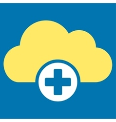 Cloud medicine icon vector