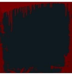 Grungy bloody frame on a black background vector