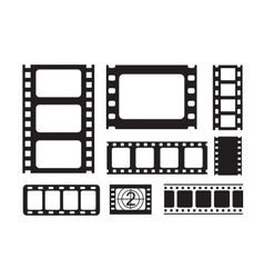 Film strip icons vector