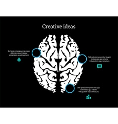 Creative ideas brain infographic vector
