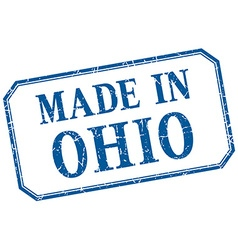 Ohio - made in blue vintage isolated label vector