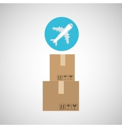 Transportation delivery package vector
