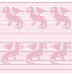 Baby dragon seamless pattern vector image