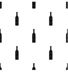 bottle of red wine icon in black style isolated on vector image vector image